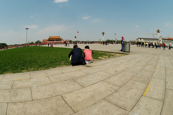 Sunny afternoon in the Tiananmen Square